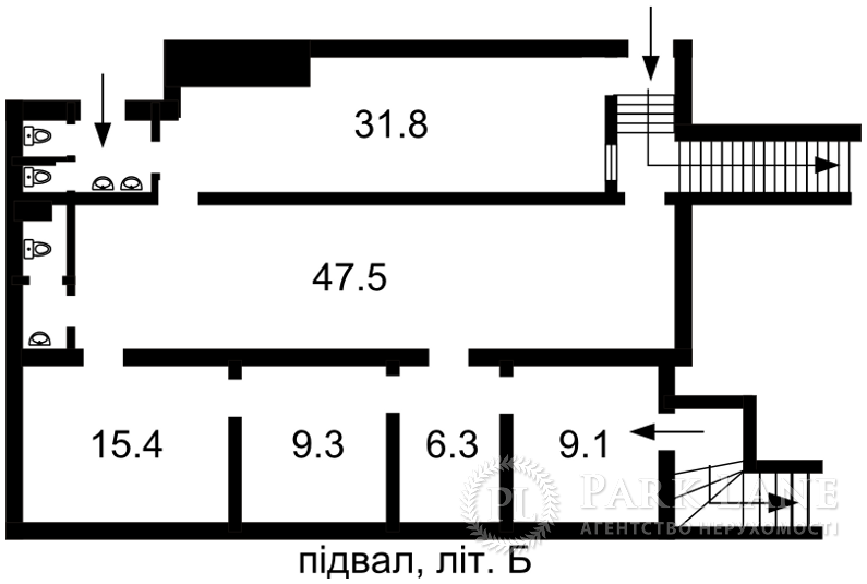 Нежитлове приміщення, вул. Велика Васильківська, Київ, Z-190582 - Фото 2