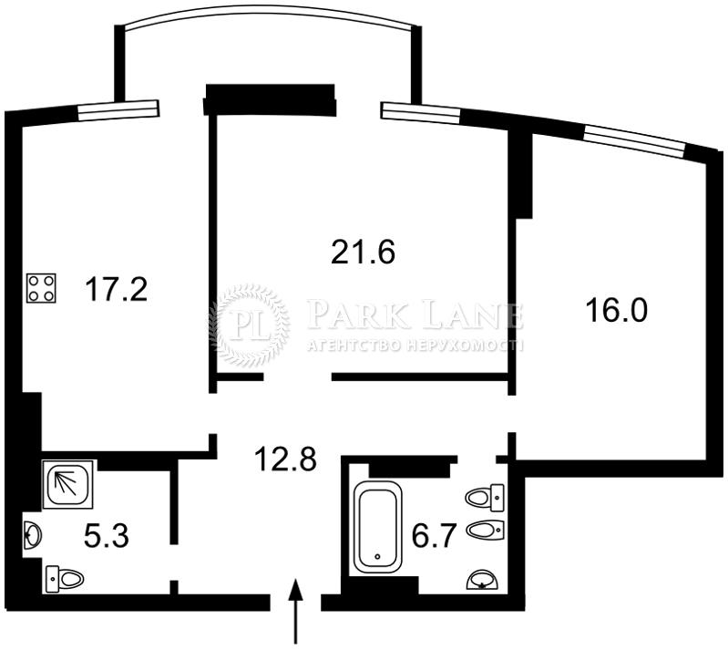 Квартира ул. Старонаводницкая, 6б, Киев, Z-537032 - Фото 2