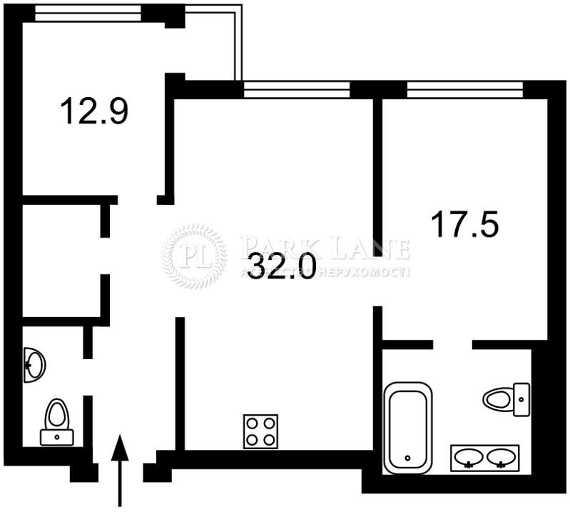 Квартира ул. Драгомирова Михаила, 20, Киев, Z-166519 - Фото 2