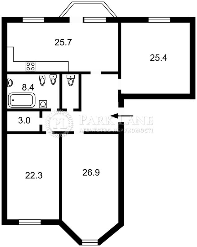 Квартира R-22943, Дьяченко, 20в, Киев - Фото 3