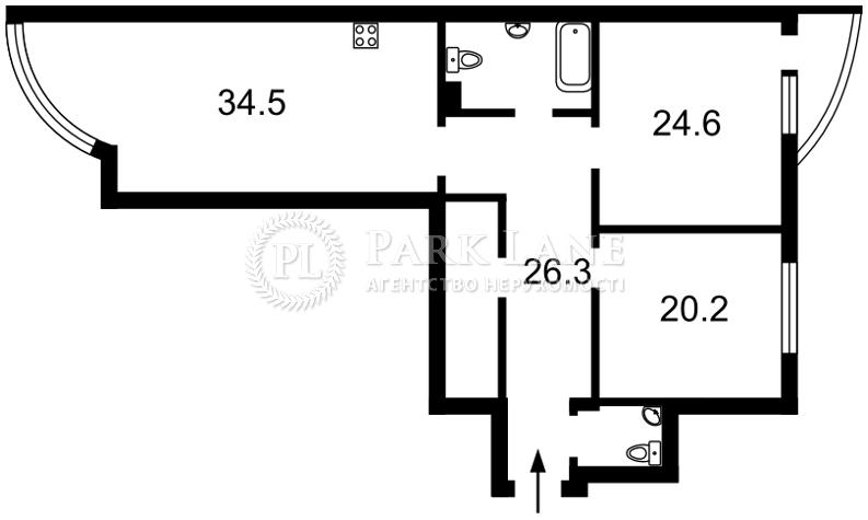 Квартира ул. Антоновича (Горького), 131, Киев, I-30049 - Фото 2