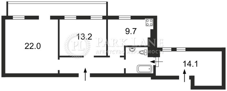 Квартира ул. Сечевых Стрельцов (Артема), 42, Киев, Z-545108 - Фото 2