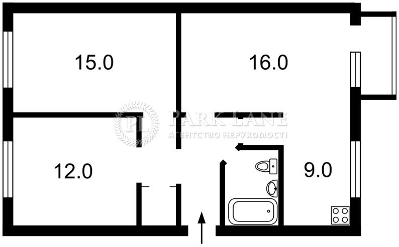 Квартира ул. Щербаковского Даниила (Щербакова), 39, Киев, Z-525682 - Фото 2