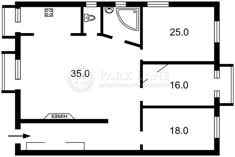 Квартира ул. Антоновича (Горького), 4/6, Киев, E-11738 - Фото 2