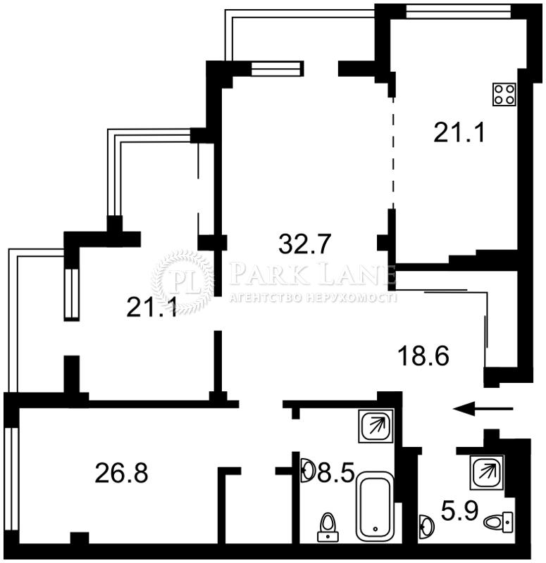Квартира ул. Драгомирова Михаила, 5, Киев, J-27837 - Фото 2
