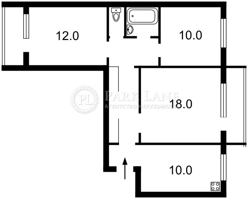 Квартира ул. Булгакова, 15, Киев, Z-543651 - Фото 2