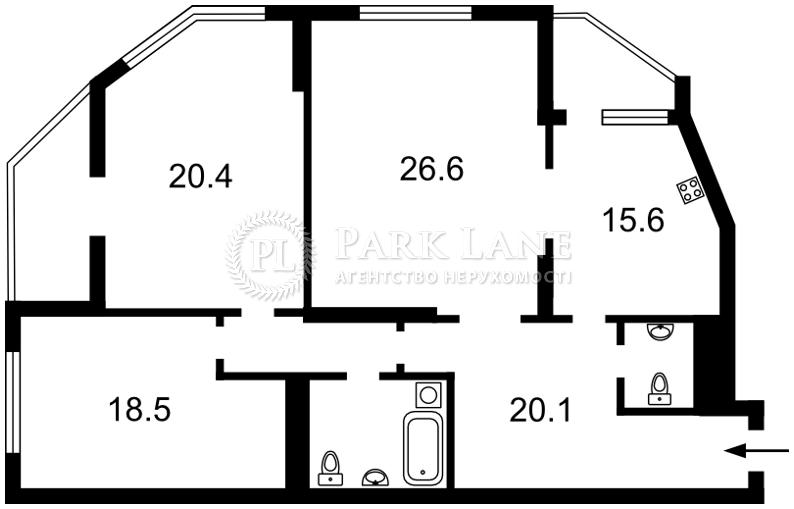 Квартира ул. Чавдар Елизаветы, 2, Киев, Z-532559 - Фото 2