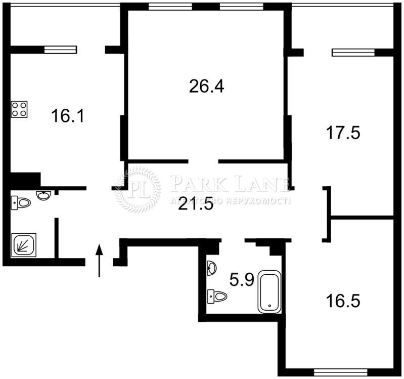 Квартира вул. Патріарха Скрипника (Островського Миколи), 40, Київ, Z-550082 - Фото 2