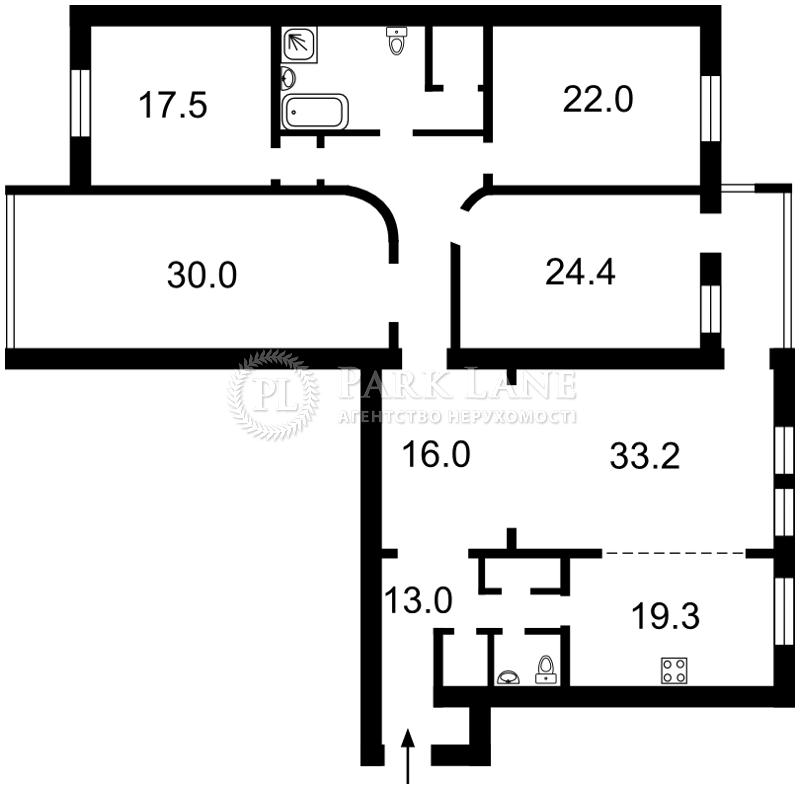 Квартира ул. Драгомирова Михаила, 4, Киев, Z-502193 - Фото 2