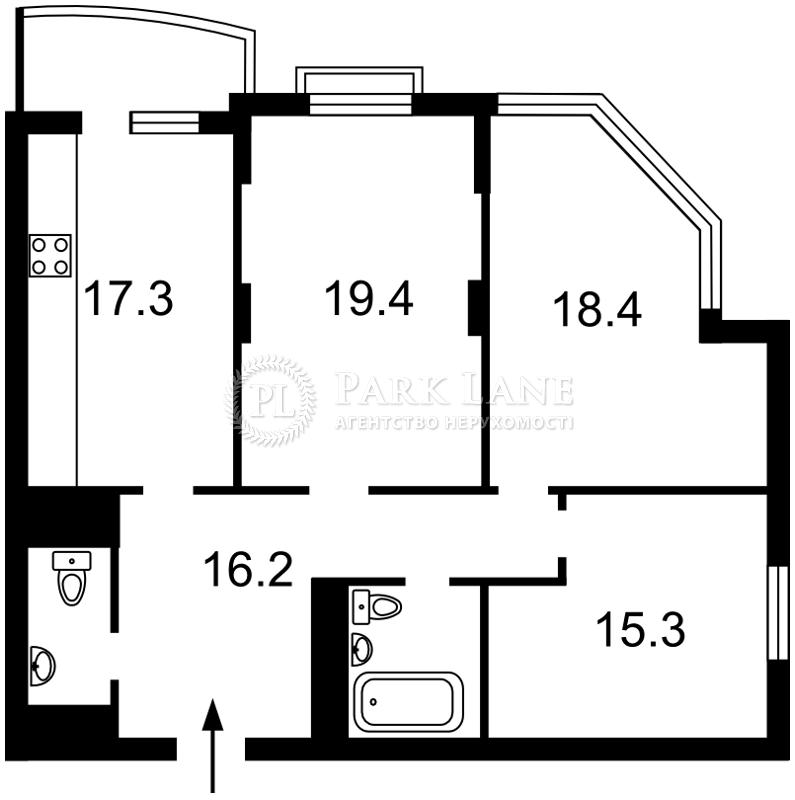 Квартира Курбаса Леся (50-летия Октября) просп., 7а, Киев, Z-965424 - Фото 2