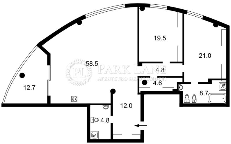 Квартира Мичурина пер., 28, Киев, B-99324 - Фото 2
