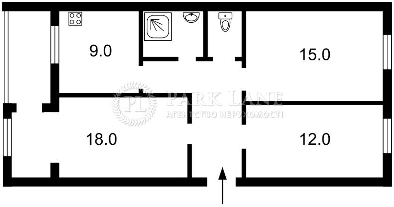 Квартира ул. Толстого Льва, 21/2, Киев, Z-558750 - Фото 2