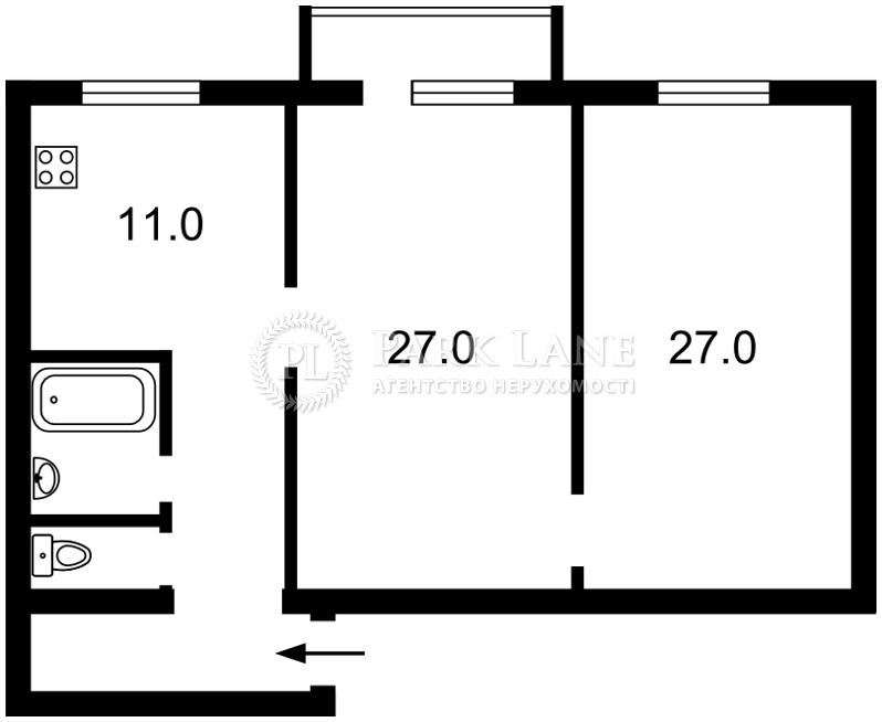 Квартира Курбаса Леся (50-річчя Жовтня) просп., 3в, Київ, Z-553955 - Фото 2
