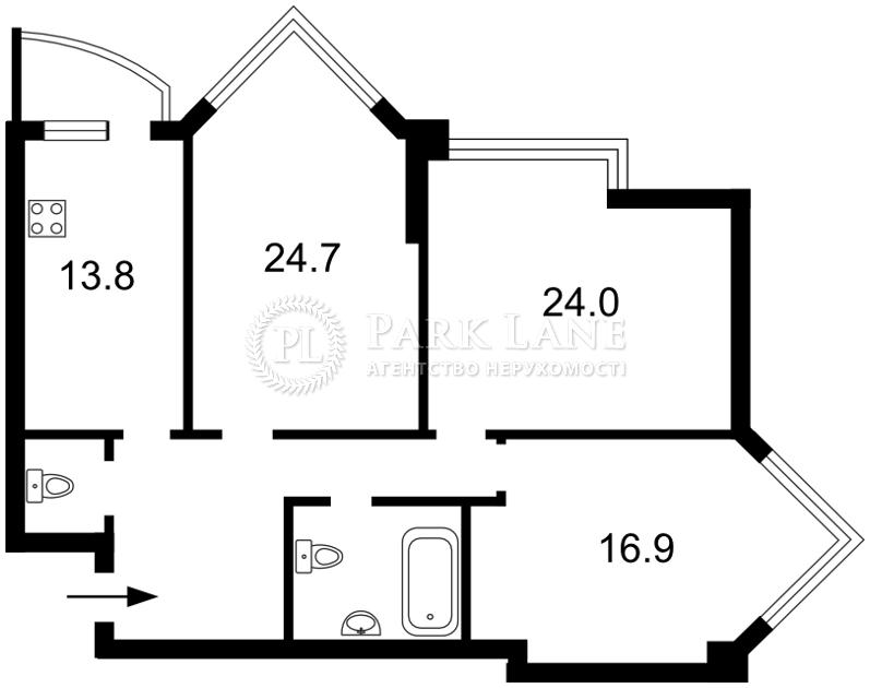 Квартира ул. Бульварно-Кудрявская (Воровского) , 11а, Киев, Z-1049952 - Фото 2