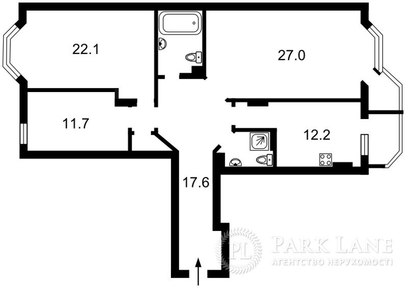 Квартира вул. Коперника, 3, Київ, Z-571186 - Фото 2