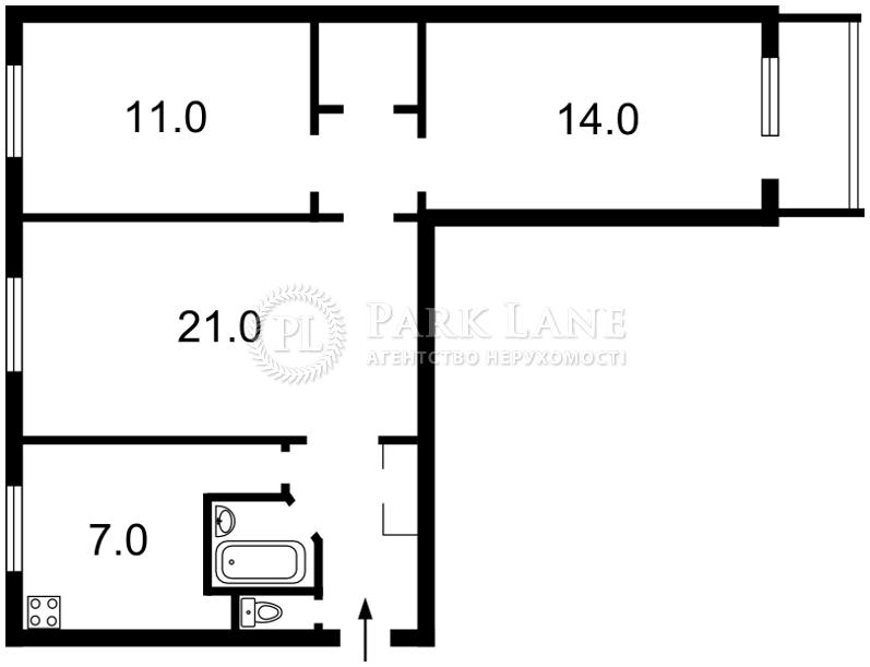 Квартира Леси Украинки бульв., 5, Киев, Z-236072 - Фото 2