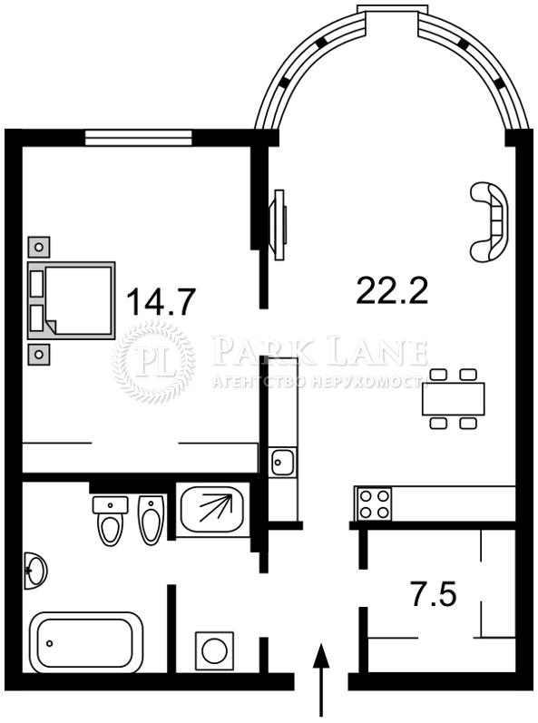 Квартира ул. Черновола Вячеслава, 27, Киев, Z-569473 - Фото 2