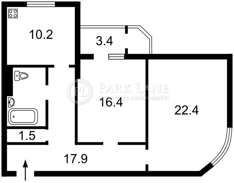 Квартира ул. Кирилло-Мефодиевская, 2, Киев, R-28538 - Фото 2