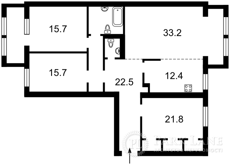 Квартира ул. Макеевская, 10, Киев, Z-570397 - Фото 2
