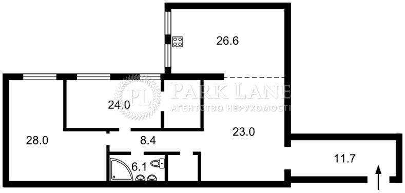 Квартира ул. Лобановского, 21 корпус 5, Чайки, B-99500 - Фото 2