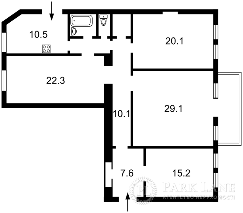Квартира ул. Тургеневская, 81, Киев, R-28727 - Фото 2
