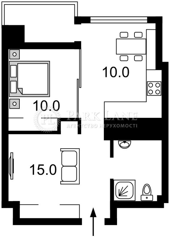 Квартира ул. Джона Маккейна (Кудри Ивана), 26, Киев, K-28415 - Фото 2