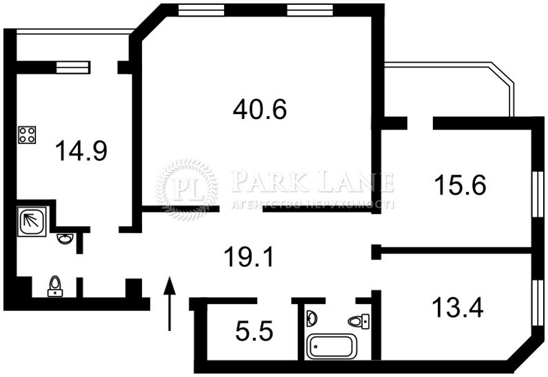 Квартира ул. Кадетский Гай, 3, Киев, R-28795 - Фото 2