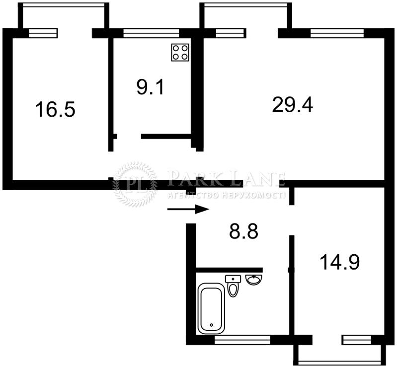 Квартира вул. Білоруська, 15б, Київ, R-26017 - Фото 2