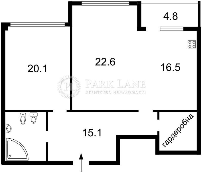 Квартира ул. Драгомирова Михаила, 12, Киев, Z-718787 - Фото 2