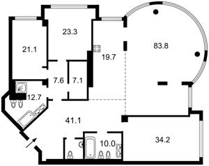 Квартира L-27159, Мазепы Ивана (Январского Восстания), 11б, Киев - Фото 4