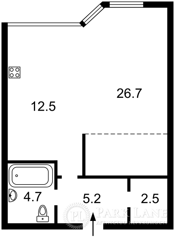 Квартира ул. Парково-Сырецкая (Шамрыло Тимофея), 4в, Киев, F-34145 - Фото 2