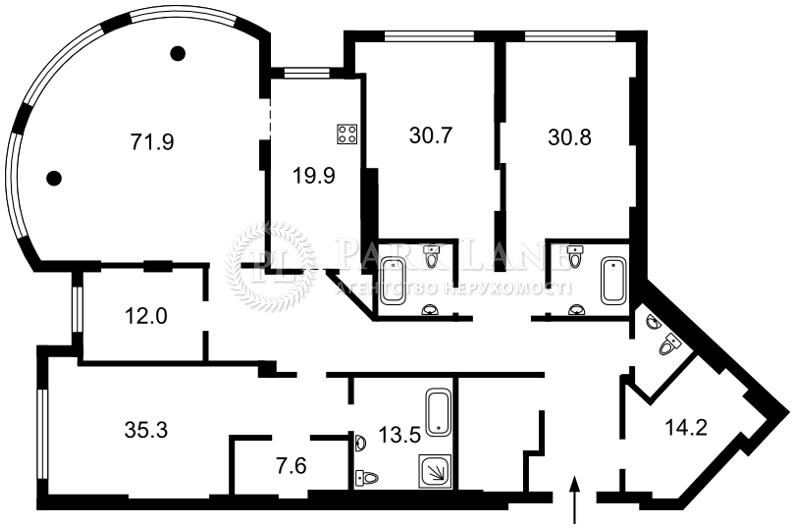 Квартира ул. Мазепы Ивана (Январского Восстания), 11б, Киев, J-28304 - Фото 2
