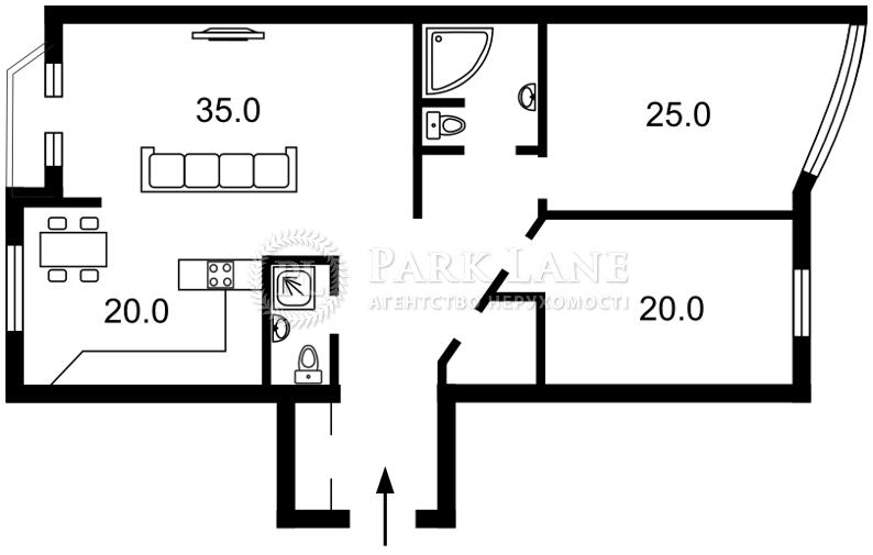 Квартира ул. Московская, 46/2, Киев, M-36538 - Фото 2