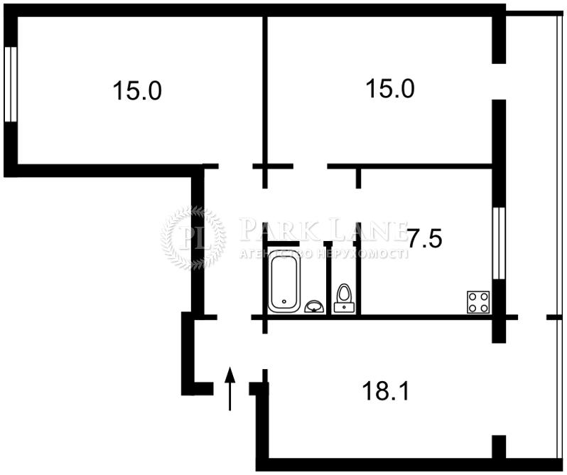 Квартира ул. Липкивского Василия (Урицкого), 13, Киев, Z-398686 - Фото 2