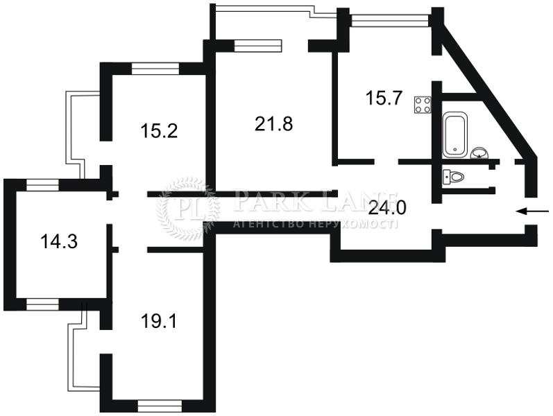 Квартира Бажана Николая просп., 30, Киев, Z-597718 - Фото 2