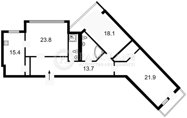 Квартира ул. Коновальца Евгения (Щорса), 44а, Киев, Z-371611 - Фото 2