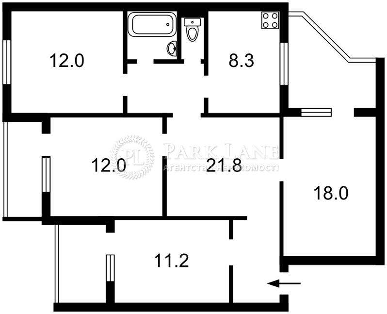 Квартира J-28429, Мишуги Александра, 1/4, Киев - Фото 7