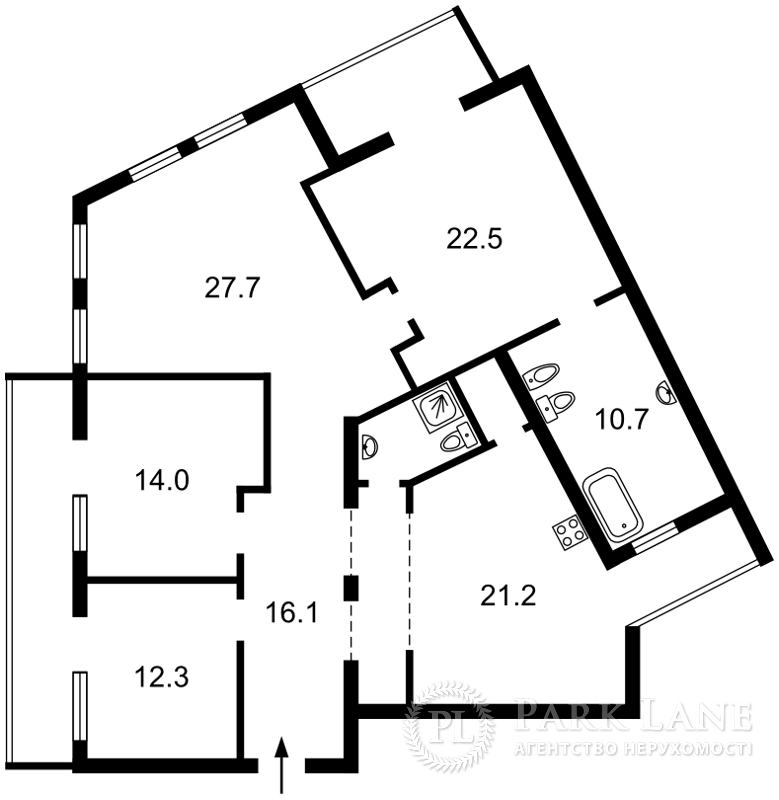 Квартира ул. Обсерваторная, 10, Киев, C-107157 - Фото 2