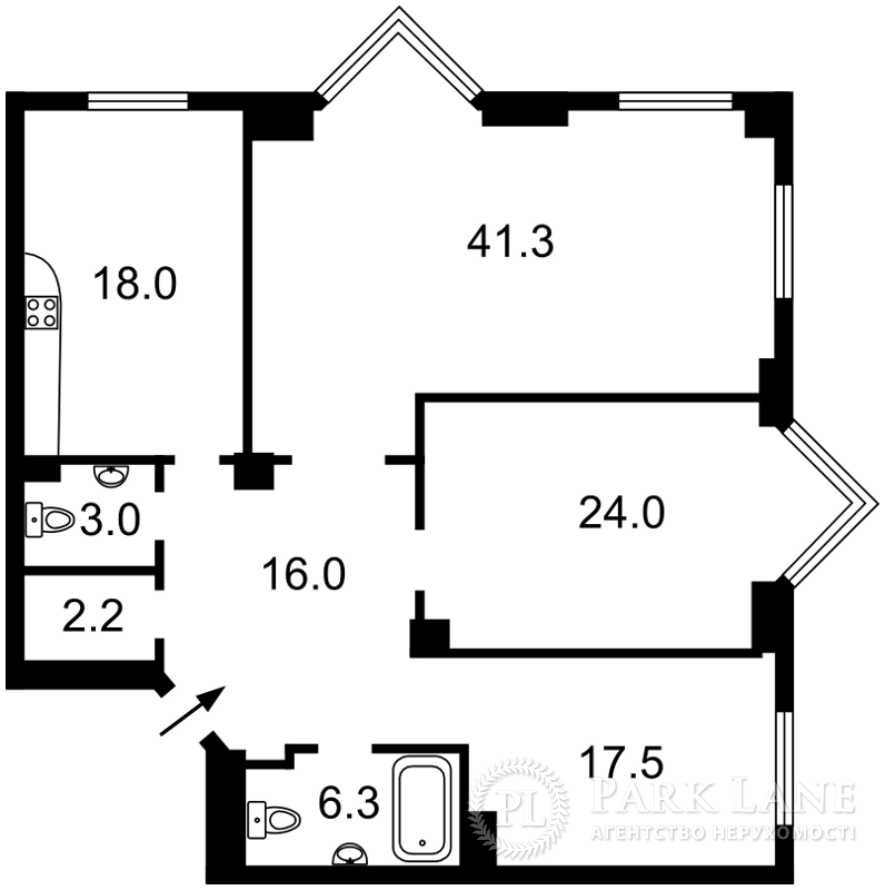 Квартира ул. Драгомирова Михаила, 14а, Киев, Z-599824 - Фото 2