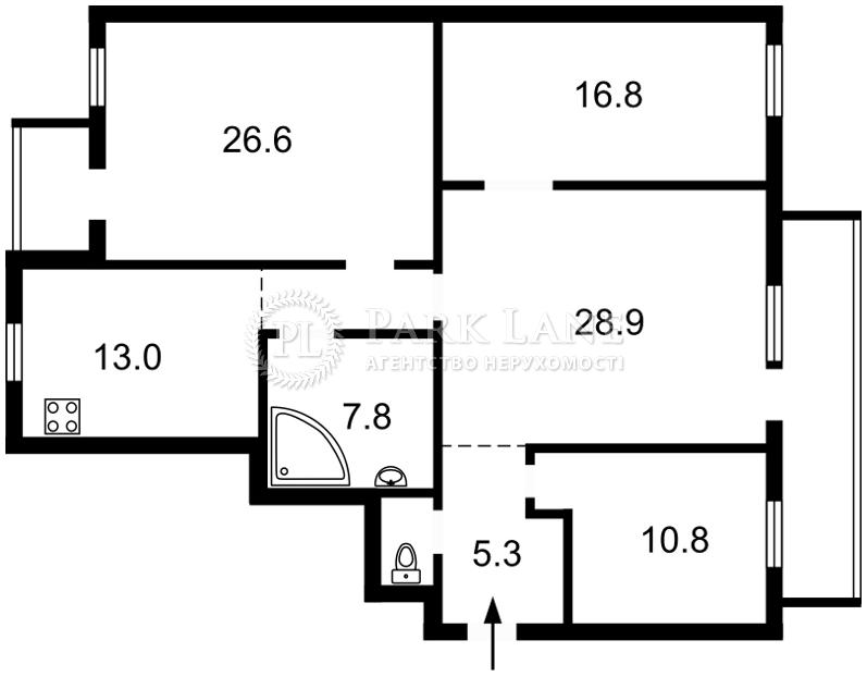 Квартира ул. Большая Житомирская, 23, Киев, Z-29438 - Фото 2