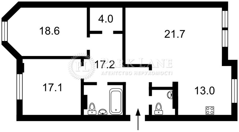 Квартира вул. Шота Руставелі, 44, Київ, N-15303 - Фото 2