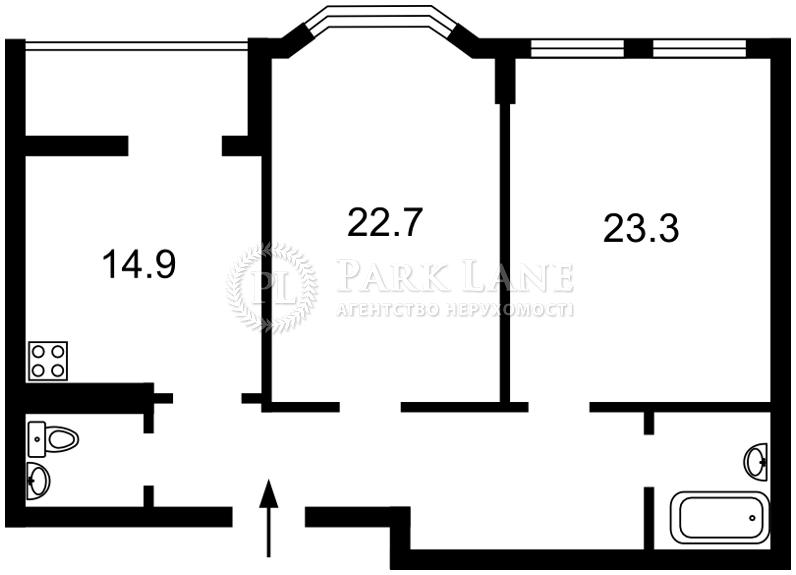 Квартира ул. Дегтярная, 21, Киев, B-99552 - Фото 2
