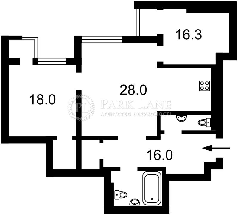 Квартира Лобановского просп. (Краснозвездный просп.), 6а, Киев, L-27476 - Фото 2
