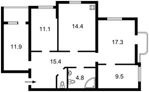 Квартира K-29201, Котельникова Михаила, 11, Киев - Фото 4