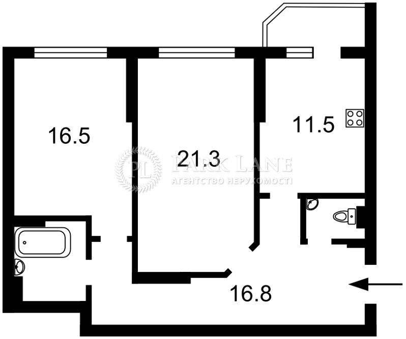 Квартира вул. Чавдар Єлизавети, 11, Київ, R-31683 - Фото 2