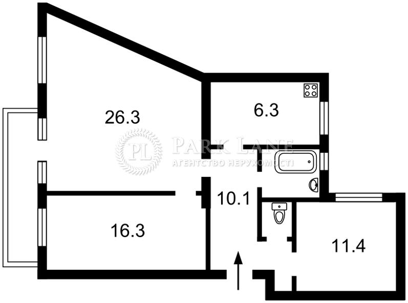 Квартира ул. Обсерваторная, 23, Киев, K-29227 - Фото 2