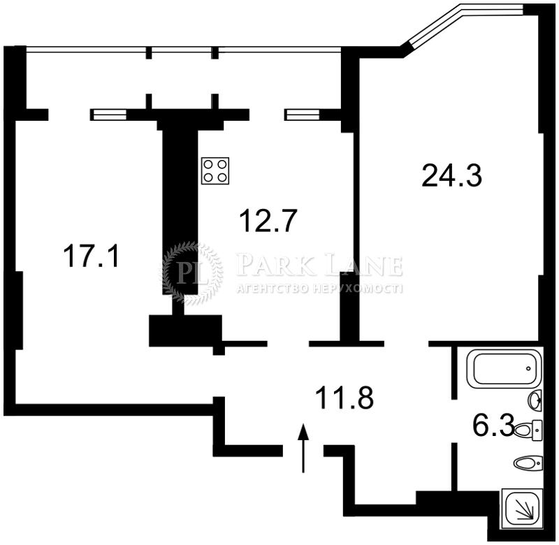Квартира ул. Лебедева-Кумача, 7в, Киев, M-37145 - Фото 2