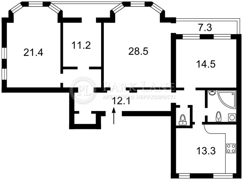 Квартира ул. Богомольца Академика, 7/14, Киев, Z-792305 - Фото 2