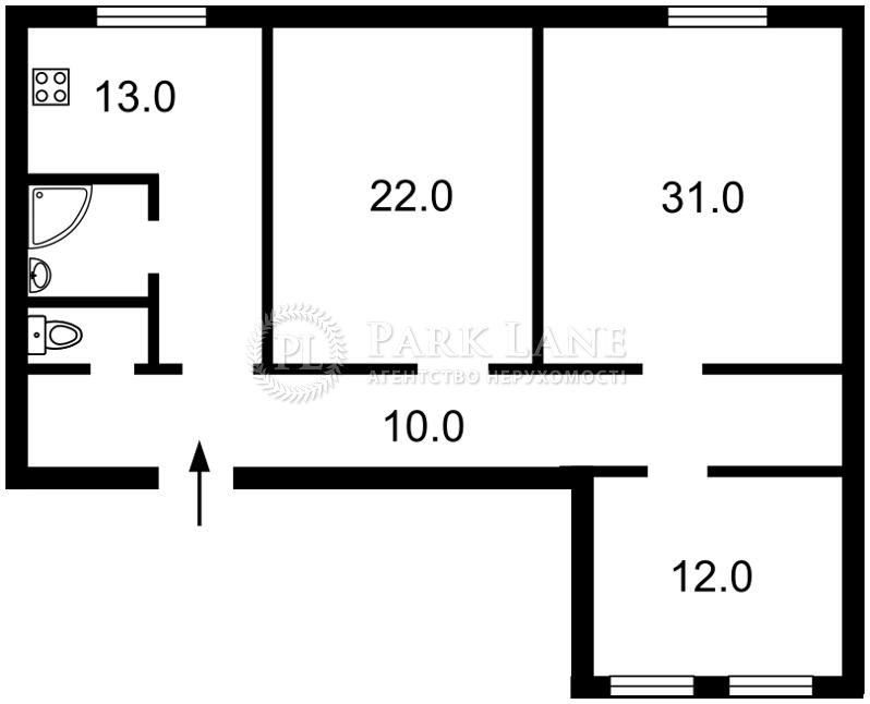 Квартира вул. Хмельницького Богдана, 9б, Київ, Z-516875 - Фото 2