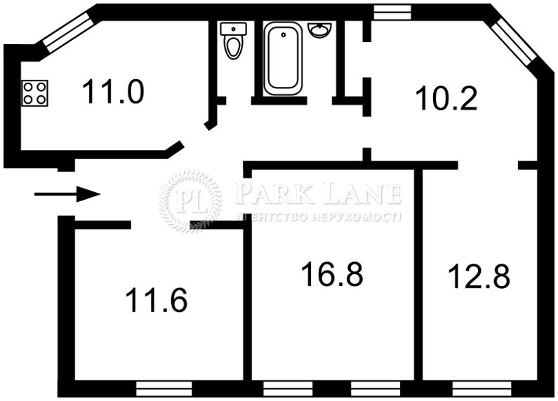 Квартира ул. Гончара Олеся, 30в, Киев, Z-601413 - Фото 2
